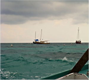 Boats adrift in a storm
